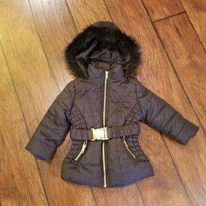 girls♡♡♡ black puffer coat